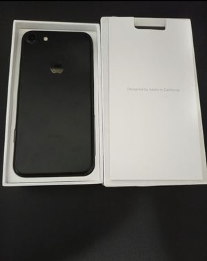 Factory unlocked Used iphone 7 matte black 128G for Sale in Glendale, CA