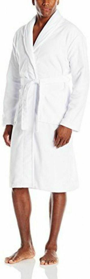 Hotel Spa Men's Terry Robe,Shawl Collar ,Self-Belt,Pockets White, XL / XXL for Sale in Las Vegas, NV