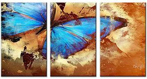 Santin Art-Butterfly Contemporary Modern Abstract Paintings Home Decorations Framed Ready To Hang 3 panel set for Sale in Hilliard, OH