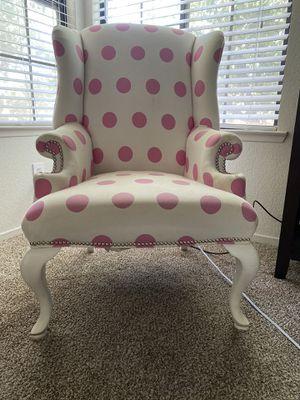 Polka dot wingback chair for Sale in Visalia, CA