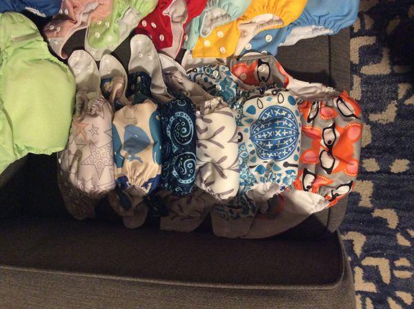 ALVA Baby and Bum Genius Cloth Diapers