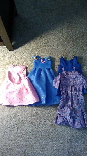 18 inch doll clothes - 3 dresses for Sale in Longmont, CO