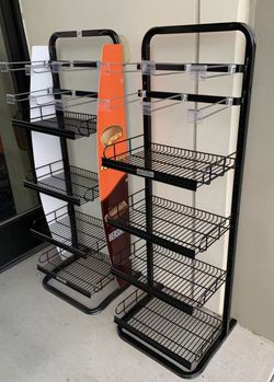 NEW $75 for 2 Racks 17x16x52 Inch Tall Commercial Retail Conveninece Store Product Candy Snack Rack Merchandise Shelf swapmeet restaurant store for Sale in San Dimas,  CA