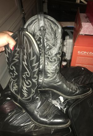 Black Dan Post Cowboy boots size 8 for Sale in Los Angeles, CA