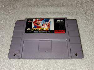 Mario's Early Years Fun With Letters for the Super Nintendo. for Sale in Denton, TX