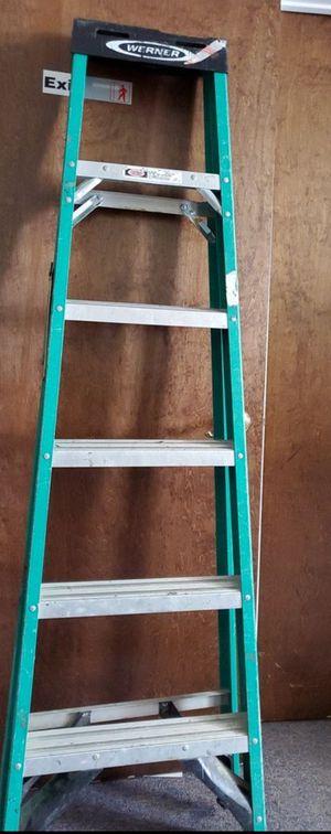 6' Werner Fiberglass Ladder $30 firm for Sale in Rockville, MD