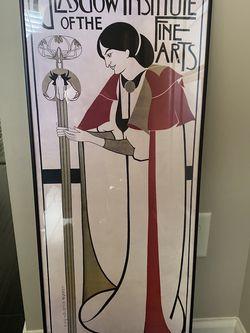 Art Deco Framed Poster for Sale in Alpharetta,  GA