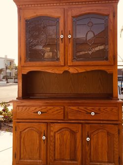 """A sturdy and durable Cabinet , Top Dimensions: length:44.5""""depth:13"""" height:45""""Bottom Dimensions: length:48.5""""depth:18"""" height:32"""" Two pieces for Sale in Garden Grove,  CA"""