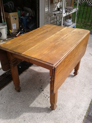 Antique solid oak wood table for Sale in Columbus, OH