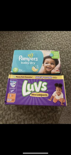 Luvs pampers size 3 baby diapers for Sale in Everett, WA