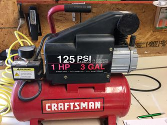 Craftsman compressor 125 psi 1 hp 3 gal for Sale in Hershey,  PA