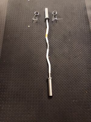 "47"" ez Olympic curl bar solid steel brand new. Name brand CAP BARBELL. Great for exercise lifting fitness workouts. Below is a description form there for Sale in Edgewood, WA"