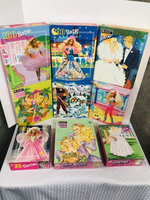 Vintage sealed 80's 90's Mattel Barbie Puzzles Lot for Sale in Pawtucket, RI