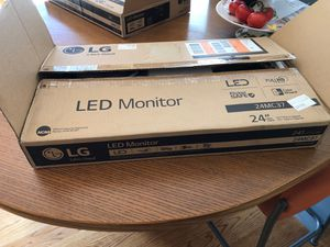 "2 EA. LG LED 24"" Monitors Full HD 1080P 24MC37 for Sale in Alamo, CA"