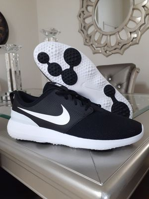 Men's Nike Roshe G Black White AA1837 001 Spikeless Golf Shoes for Sale in Chula Vista, CA