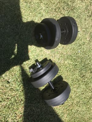 20 (2) Lbs Dumbbells = 40 Lbs total for Sale in Los Angeles, CA