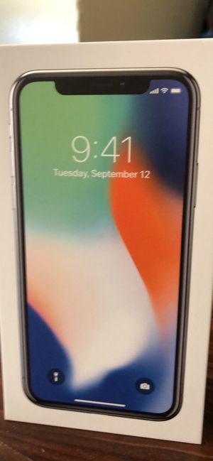 iPhone X 256 silver for Sale in Charleroi, PA