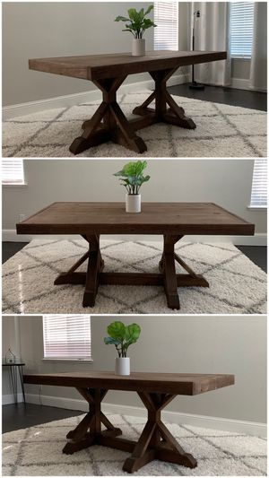 6FT x 3FT Solid Wood Rustic Farmhouse Dining Table for Sale in San Jose, CA