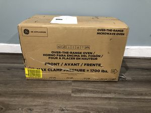 NEW NEW- GE 1.7-cu ft Over-the-Range Microwave with Sensor Cooking Controls - NEW in BOX - ONLY $295 for Sale in Romoland, CA