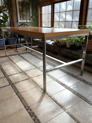 Work table on metal steel frame for Sale in Pipersville, PA