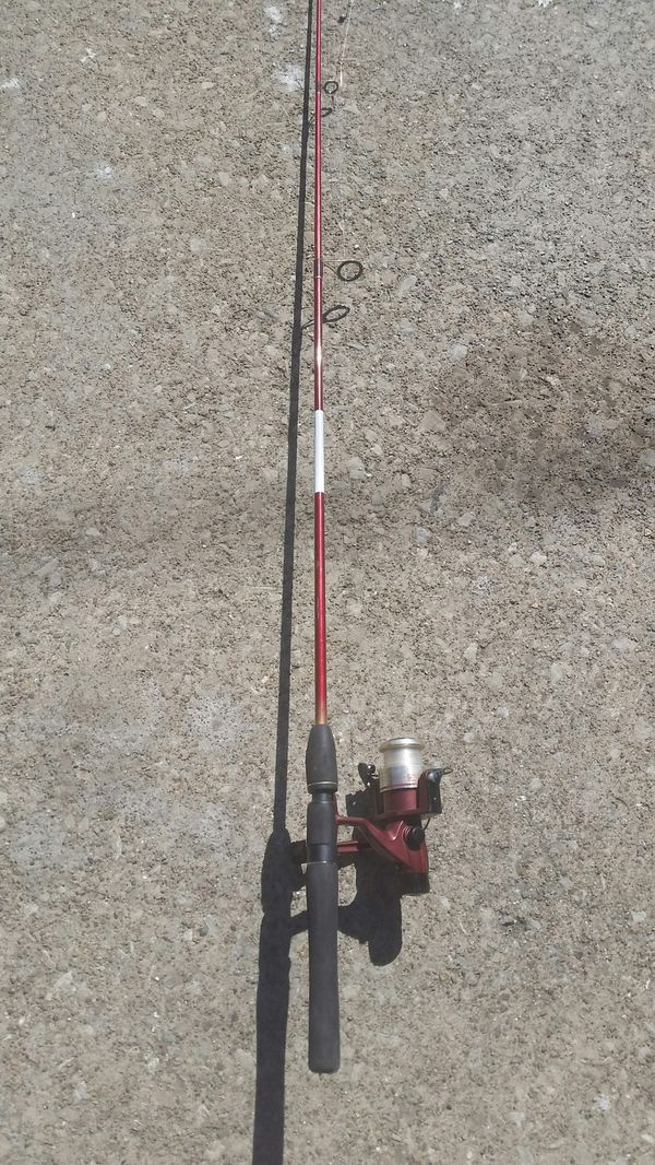 Berkley fishing rod with Quantum reel.