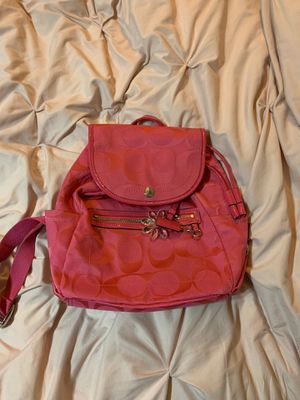 Coach backpack in pink for Sale in Indian Shores, FL