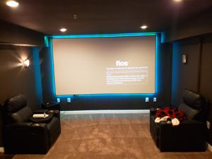 135 in acoustic Pro theater screen for Sale in Fort Washington, MD
