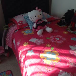 Hello Kitty comforter and stuffed animal for Sale in Bowie, MD