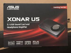 Asus Xonar U5 USB sound card and headphone amplifier for Sale in Alexandria, LA