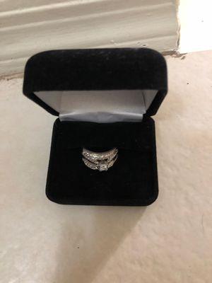 White gold 10k 2 carat wedding ring for Sale in Phoenix, AZ