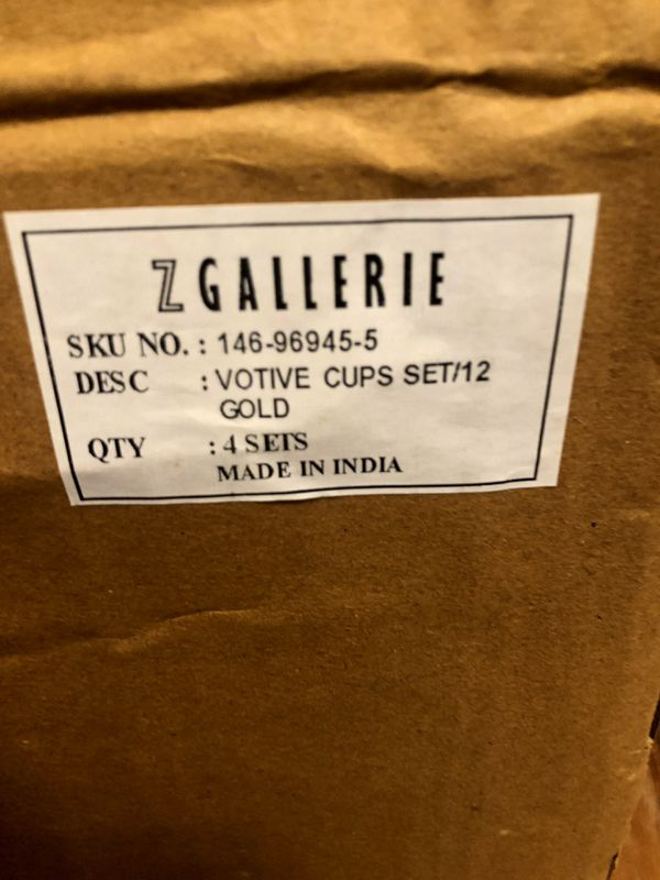 Z Gallerie 144 Gold Starry Votive Cups for candles (144 count)