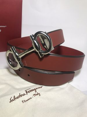 Red Salvatore Ferragamo 'Parigi' Belt for Sale in Queens, NY