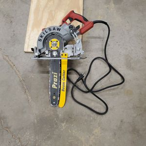 BEAM CUTTER!!! Skillsaw With Worm Drive Prazzi Attacment for Sale in Naperville, IL