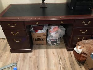 Large wooden desk for Sale in Federal Way, WA