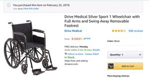 Wheelchair for Sale in Tampa, FL