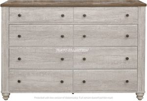 NEW IN THE BOX. STYLISH Antique White And Brown DRESSER . SKU#TC1903-DRESSER for Sale in Westminster, CA
