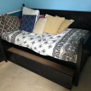 Black Trundle Bedset, Dresser, Stand for Sale in Belle Isle, FL