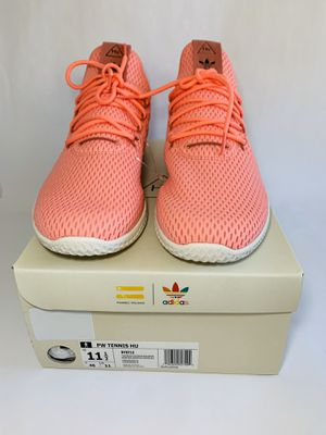 """MEN'S ADIDAS PW TENNIS HU LOW """"Pharrell Williams"""" """"THE ORIGINAL COLLECTION SHOES"""" Size: 11.5 USA - 11UK Color: PINK ROSE WHITE Style N for Sale in Dundalk, MD"""