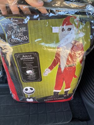 The Nightmare Before Christmas Jack Skellington Sandy Claws Costume adult 44. for Sale in Elgin, IL