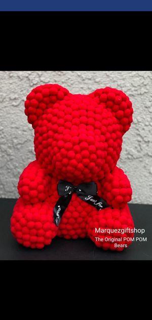 Love you Red Teddy POM POM,Bear for Sale in Riverside, CA