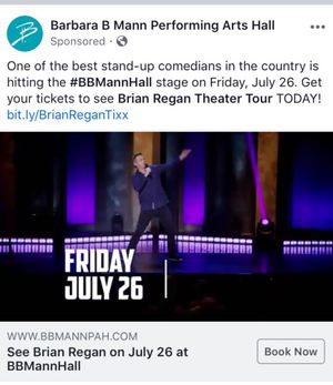 Brian Regan (comedian) at Barbara B Mann for Sale in Fort Myers, FL