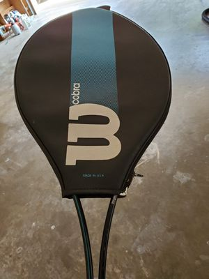 Black and Blue Cobra Wilson Tennis Racket w/ Sleeve for Sale in Texarkana, TX