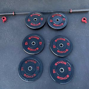 205lb Ethos Bumper Plate Set + Bar BRAND NEW for Sale in Andover, MA