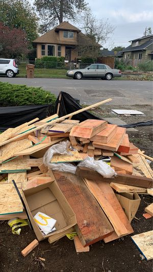 Free wood for fire. To first person willing to pick up for Sale in Tacoma, WA