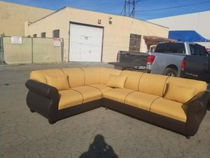NEW 7X9FT CONQUEST LAVA FABRIC COMBO SECTIONAL COUCHES for Sale in Phelan, CA