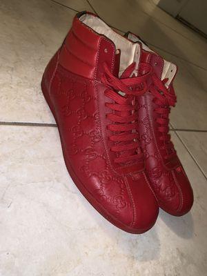 Red Gucci hi tops for Sale in Miami, FL