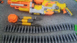 Nerf Gun Vulcan Machine Gun with Bullet Chain and Tripod for Sale in Las Vegas, NV