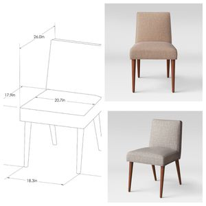 Dining Chair - Cocoa /gray- Project 62™ new still in box$70 each for Sale in La Mesa, CA