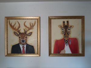 Fancy animal original oil painting for Sale in Sheridan, CO