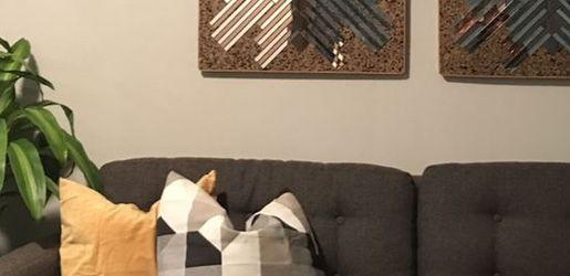 Grey Midcentury Modern CB2 Sofa for Sale in Dallas,  TX